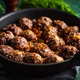 Fried meatballs with sauce on pan - PhotoDune Item for Sale