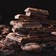 Dark chocolate chunks on table - PhotoDune Item for Sale