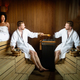Beautiful young couple sitting together in a sauna - PhotoDune Item for Sale