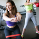 Beautiful women working out in gym together - PhotoDune Item for Sale