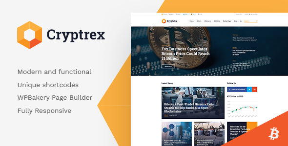 Cryptrex   Cryptocurrency & Mining WordPress Theme