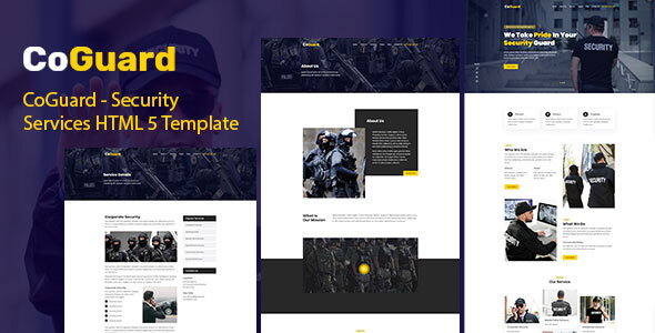 Exceptional CoGuard - Security Services HTML 5 Template