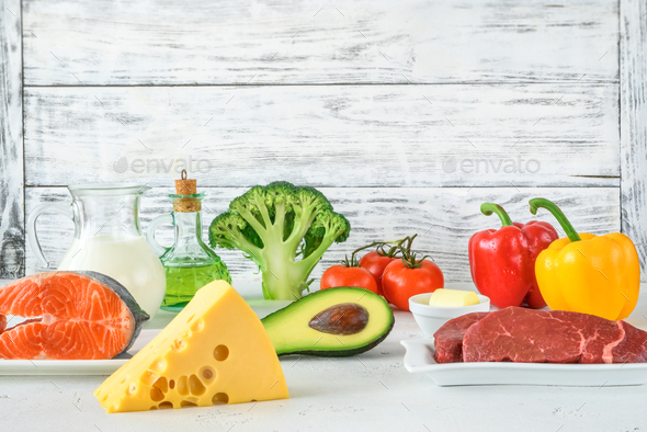 Food for ketogenic diet - Stock Photo - Images