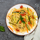 Pasta spaghetti with zucchini, carrot and tomato - PhotoDune Item for Sale