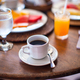 Black coffee and juice for breakfast at a cafe in the resort - PhotoDune Item for Sale