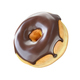 Donut with chocolate icing isolated on a white background. - PhotoDune Item for Sale