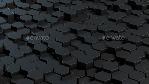 Abstract hexagons gray backdrop. - Stock Photo - Images