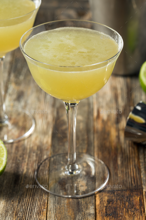 Green Chartreuese Last Word Cocktail - Stock Photo - Images