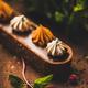 Caramel tart dessert with Belgium chocolate and Swiss merenge, close-up - PhotoDune Item for Sale
