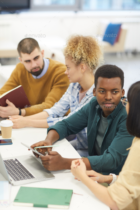 Group of Young People Studying in Library - Stock Photo - Images