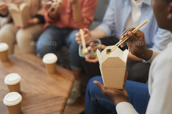 Lunch in Office - Stock Photo - Images