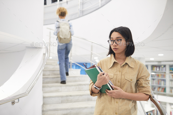 Asian Girl in College - Stock Photo - Images