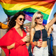 Group of friends, people attend a gay pride event - PhotoDune Item for Sale