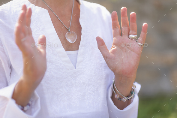 Acceptance Concept, Hand Gesture Sending Positive Feelings - Stock Photo - Images