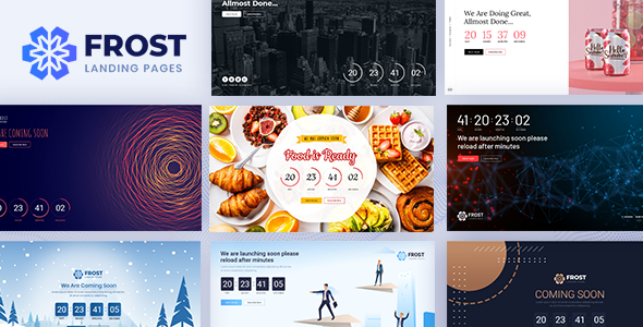 Frost - Coming Soon, Under Construction Bootstrap 4 Template by DexignZone