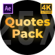 Quotes Clean Pack - VideoHive Item for Sale
