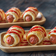 Sausage rolls on the wooden tray - PhotoDune Item for Sale