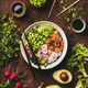 Salmon poke bowl or sushi bowl with vegetables and greens - PhotoDune Item for Sale