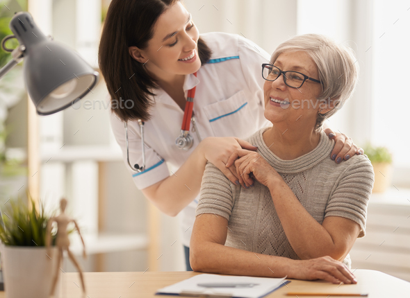 patient listening to doctor - Stock Photo - Images