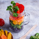 Vegetarian rainbow salad in a glass jar - PhotoDune Item for Sale