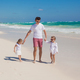 Happy father and his adorable little daughters on sunny day - PhotoDune Item for Sale