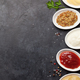 Set of various sauces. Popular sauces in bowls - PhotoDune Item for Sale