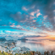 Alesund, Norway. Amazing Natural Bright Sunset Dramatic Sky In Warm Colours Above Alesund Islands - PhotoDune Item for Sale