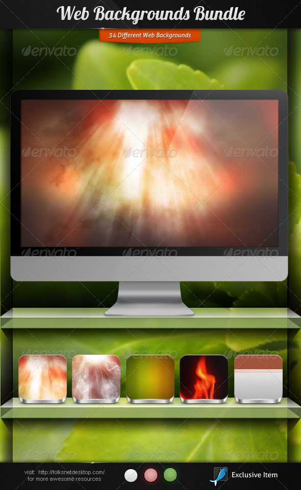 Web Backgrounds Bundle - Backgrounds Graphics