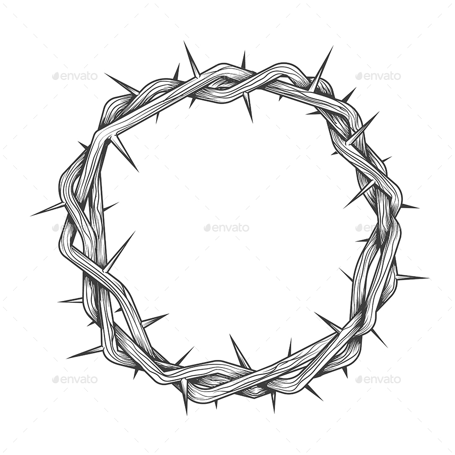 Hand Made Crown of Thorns Tattoo