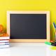 Chalkboard, apple and school supplies - PhotoDune Item for Sale