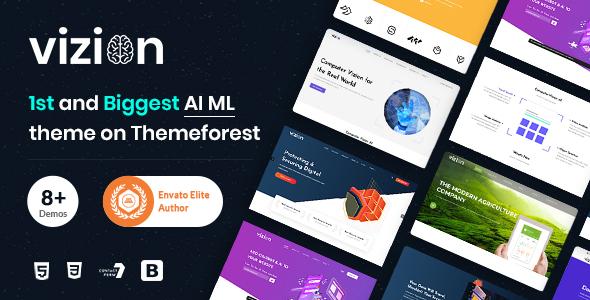 Vizion – AI Startups Responsive HTML5 Template