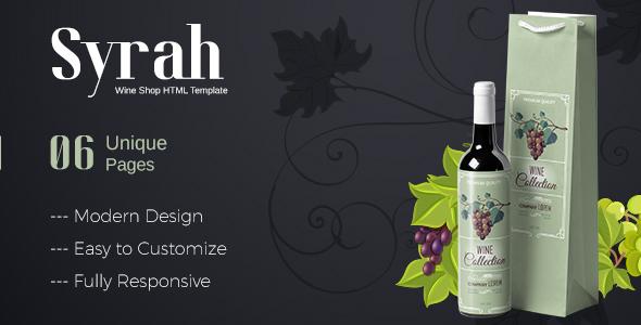 Fabulous Syrah - Wine Shop HTML Template