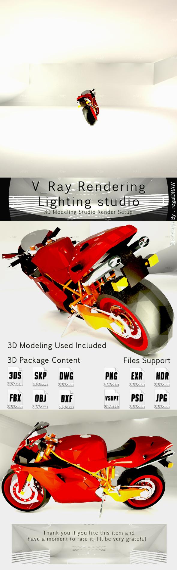 V_Ray Rendering Light Studio