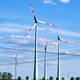 Wind power plants and overhead power lines - PhotoDune Item for Sale