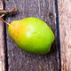 Banner of Pear on wooden rustic background. Top view. - PhotoDune Item for Sale