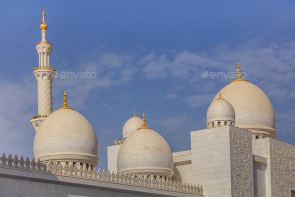 Shaikh Zayed mosque in Abu Dhabi, UAE - Stock Photo - Images