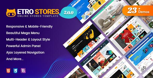 EtroStore - Responsive Multipurpose eCommerce Shopify Theme with 23+ Unique Shop Demos Ready