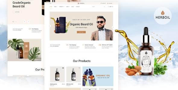 Herboil - Beard oil HTML Template