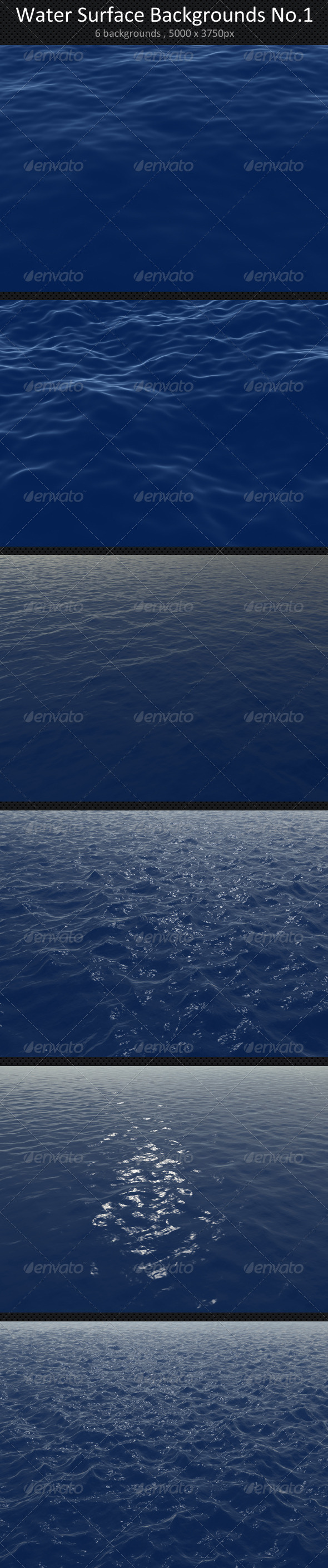 Water Surface Backgrounds No.1 - 3D Backgrounds