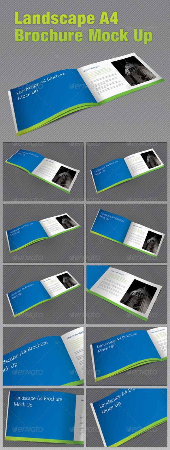 Landscape A4 Brochure Mock Up - Brochures Print