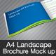 Landscape A4 Brochure Mock Up - GraphicRiver Item for Sale