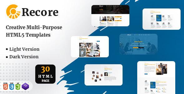 Recore - Resposnive HTML Template