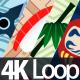 Japanese Patterns 4K Loop - VideoHive Item for Sale
