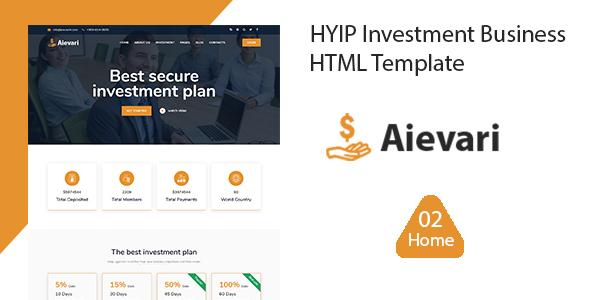 Marvelous Aievari -  HYIP Investment Business HTML Template