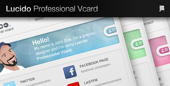 Free Download Lucido Professional Vcard Nulled Latest Version