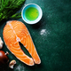 Raw fish steaks with ingredients - PhotoDune Item for Sale