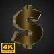 Golden Rotating Dollar Symbol - 4K - VideoHive Item for Sale
