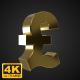 Golden Rotating Pound Symbol - 4K - VideoHive Item for Sale