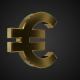 Golden Rotating Euro Symbol - VideoHive Item for Sale