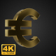 Golden Rotating Euro Symbol - 4K - VideoHive Item for Sale